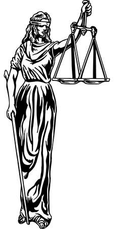 Blind Justice Illustration Stock fotó - 86625631