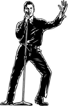 Singer Illustration
