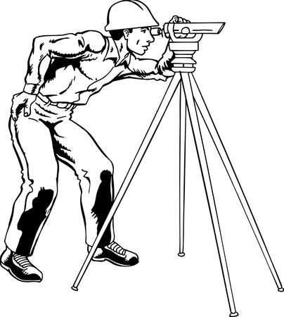 Ilustracja Surveyor Ilustracje wektorowe