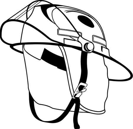 Firemans Helmet Illustration.