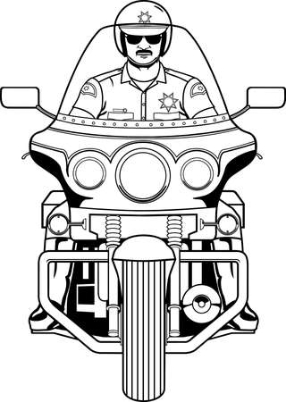Motorcycle Cop Illustration. Illustration