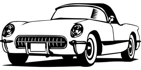 Classic Chevrolet Corvette Illustration