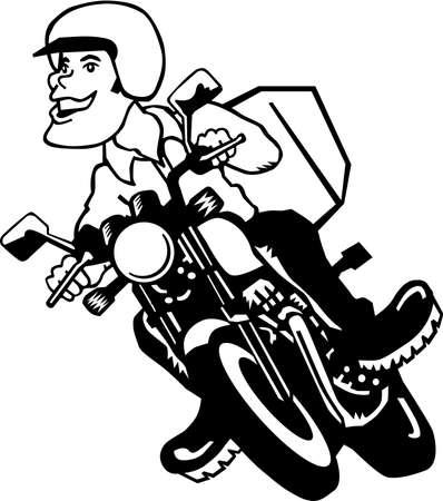Motorcycle Rider Cartoon