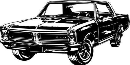Classic car vector Illustration