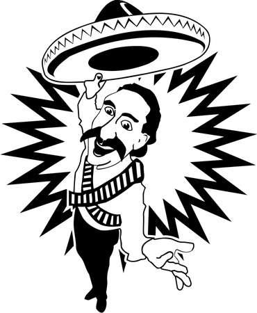 Mexican Rancher Cartoon Stok Fotoğraf - 86986299