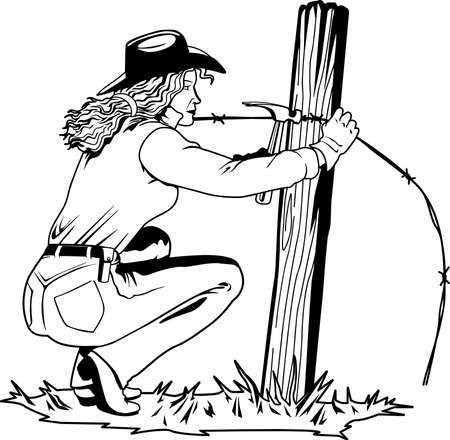 Fixing Fence Illustration