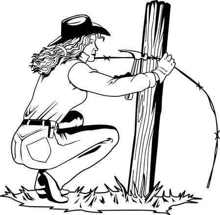 Fixing Fence Illustration