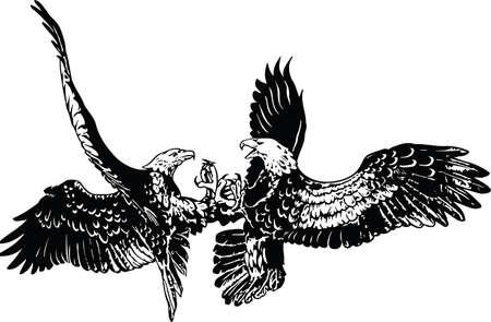 Two Eagles Illustration Иллюстрация