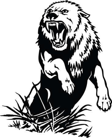 Wolf Illustratie Stockfoto - 87439174