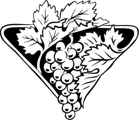 Grapes icon illustration on white background. Illustration