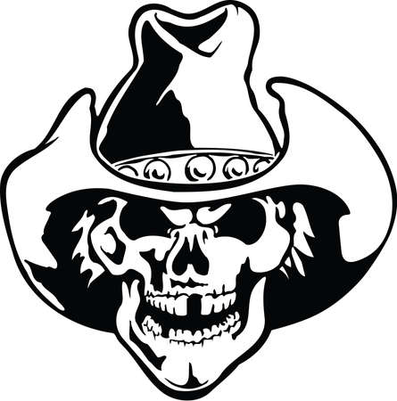 Cowboy Skull Illustration
