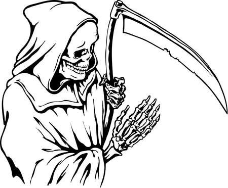 死神の図  イラスト・ベクター素材