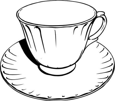 カップとソーサーの図