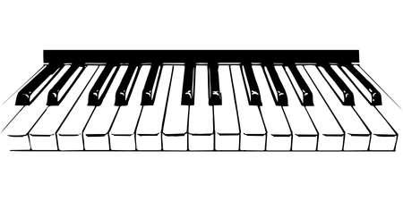 ピアノの鍵盤の図  イラスト・ベクター素材
