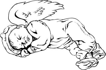 Angel Baby Illustration 向量圖像