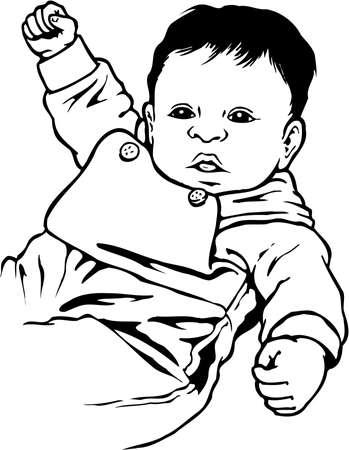 赤ちゃんイラスト  イラスト・ベクター素材