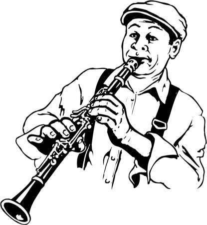 Clarinet Player Illustration Illustration