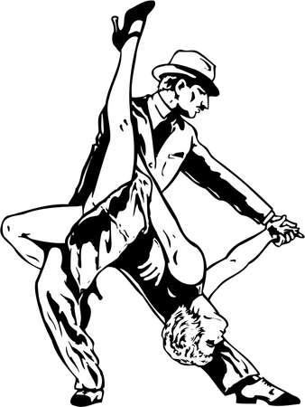 Dancers Illustration Illustration