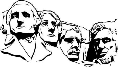 Mount Rushmore Memorial Illustration