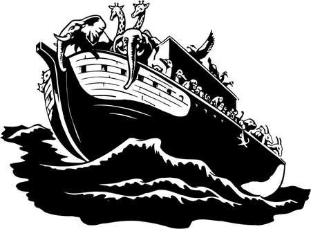 Noahs Arche-Illustration