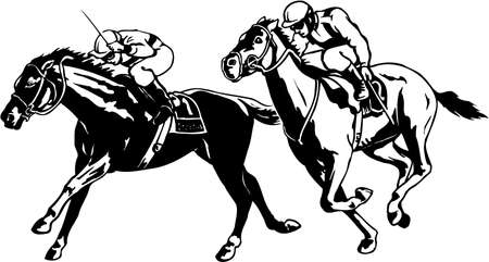 Horse race illustration.