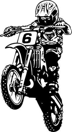 Illustration de motocross Banque d'images - 87738299