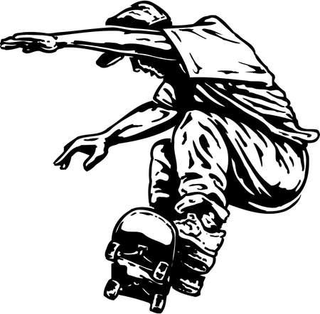 Skateboarder illustratie. Stock Illustratie