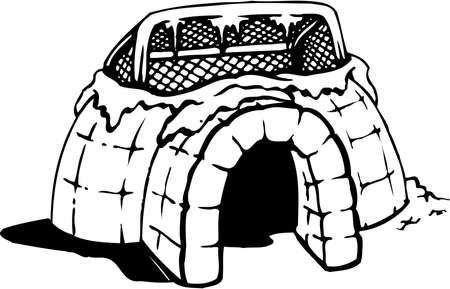 Voetbal Igloo Cartoon Stock Illustratie