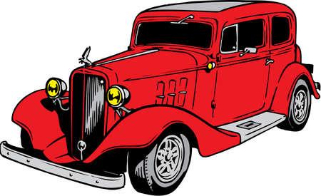 Vintage Sedan Illustration
