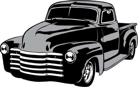 Ilustracja Pickup samochodu