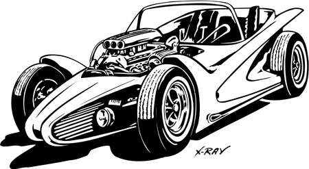Custom Car X-Ray Illustration