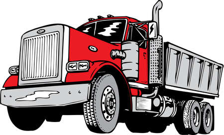 Dump Truck Illustration