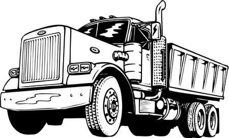 Dump Truck Illustration Reklamní fotografie - 87860070