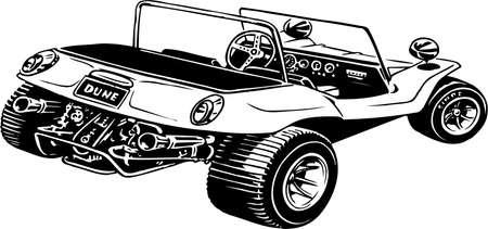 ilustración de la duna de buggy