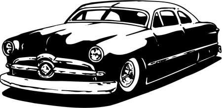 Ford Two Door Illustration Illusztráció