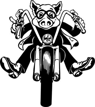 Hog Rider Illustration Stock Illustratie