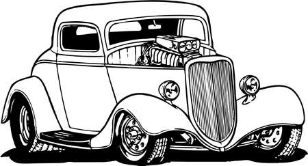 Hot Rod Illustration
