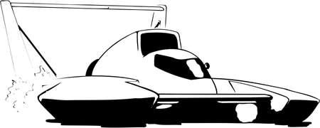 Hydroplane Illustration