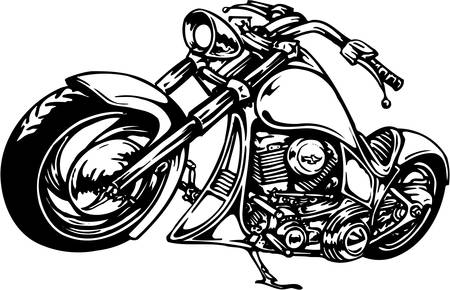 Motorcycle Illustration Ilustrace