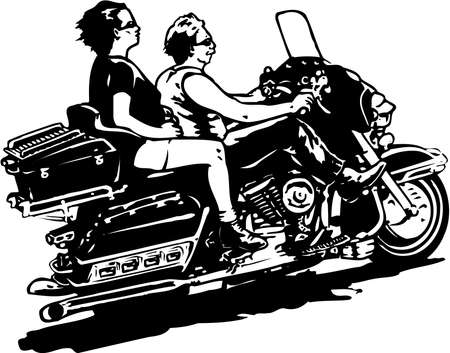 Motorcycle Illustration Illustration