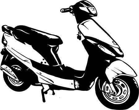 Motor Scooter Illustration