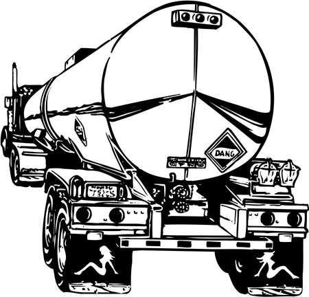 Tanker Truck Illustration 向量圖像