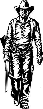 Man with Rifle Illustration
