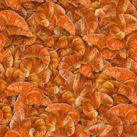 Croissants Seamless Texture Tile Фото со стока