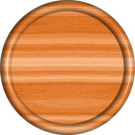 Cedarwood Circular Sign Blank