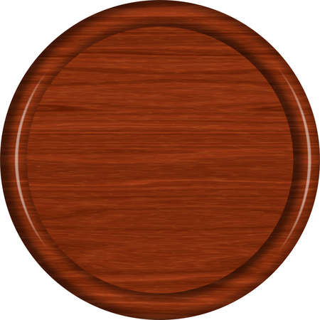 Mahogany Wood Circular Sign Blank 版權商用圖片