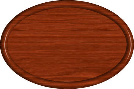 Mahogany Wood Oval Sign Blank 免版税图像