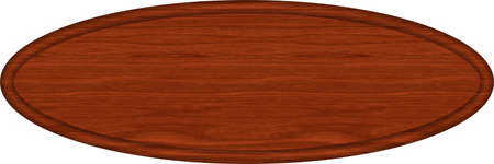 Mahogany Wood Oval Sign Blank 版權商用圖片