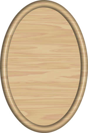 Maple Wood Oval Sign Blank