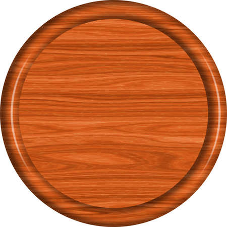 Redwood Circular Sign Blank